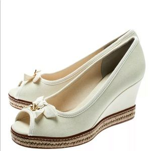 Tory Burch Jackie Espadrille Wedge - Ivory